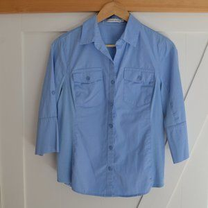 Alfred Sung 3/4 sleeves soft blue blouse